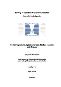 Beate siegler dissertation