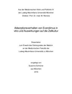 dissertation medizin zellkultur