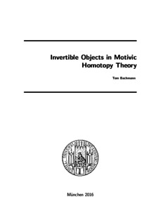 Invertible Objects In Motivic Homotopy Theory