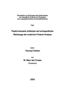 2d gelelektrophorese dissertation